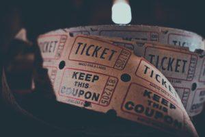 Ticket d'ingresso rappresentano la promozione del Cineporto.