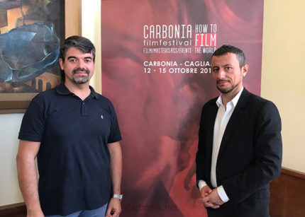 Paolo Serra e Francesco Giai Via alla presentazione di How To Film The World.
