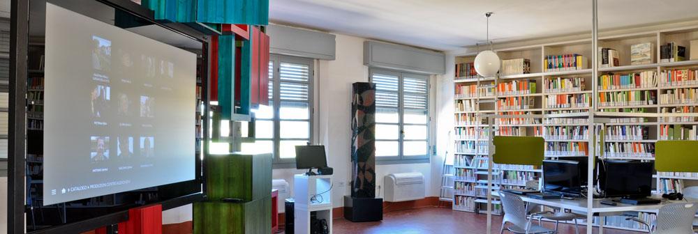 Fotografia della Sala-Biblioteca Multimediale della Fabbrica del Cinema.