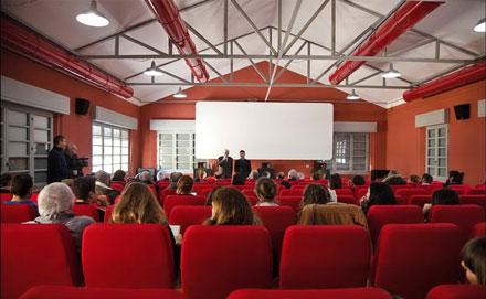 Una foto della nuova sala cinematografica del Cineporto.